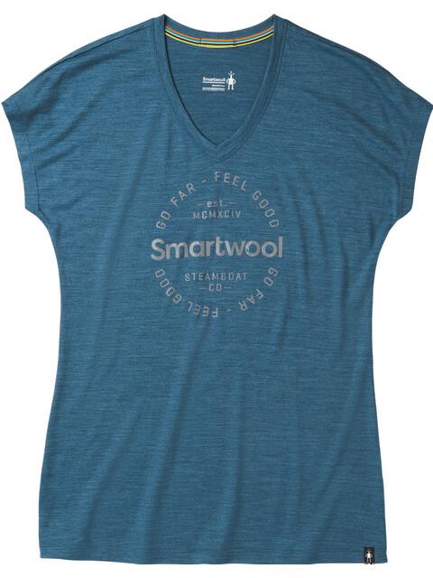 Smartwool Merino Sport 150 Go Far Feel Good t-shirt Dames blauw